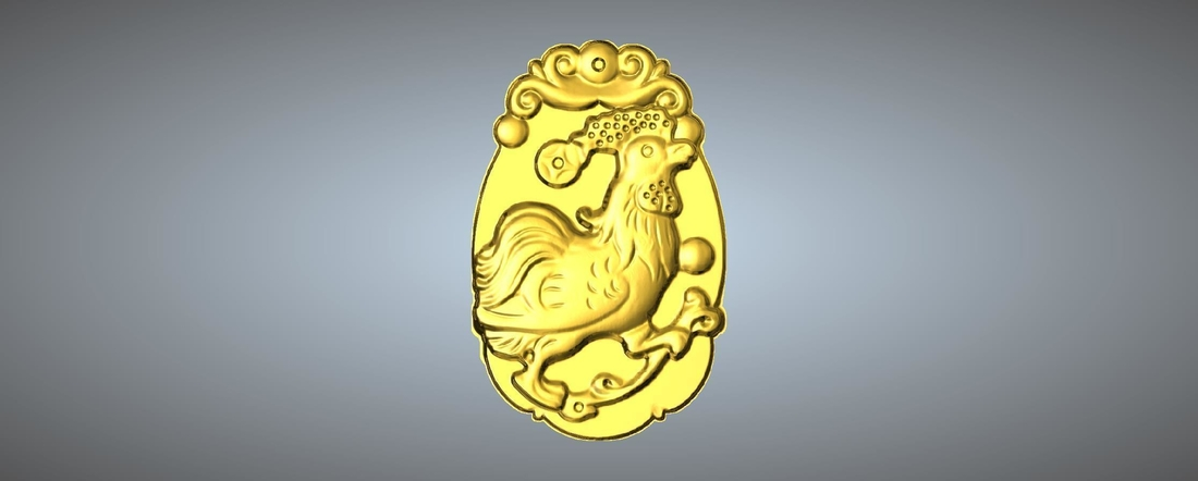 Jade carving Chinese zodiac 3D Print 245771