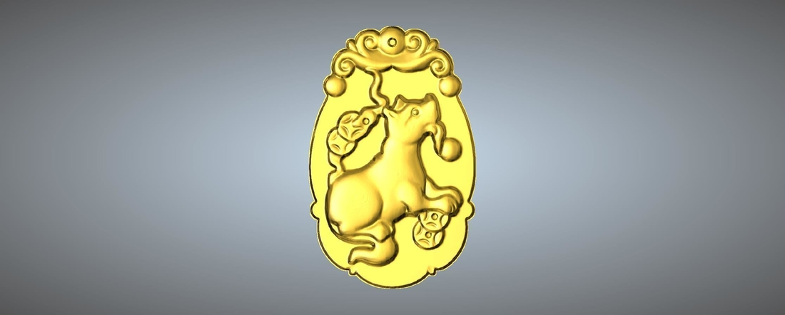 Jade carving Chinese zodiac 3D Print 245772