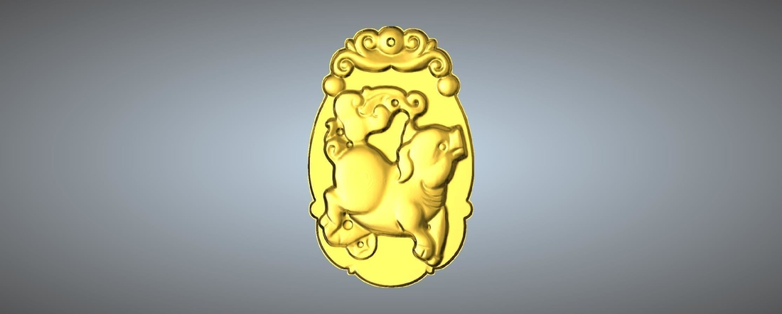 Jade carving Chinese zodiac 3D Print 245773