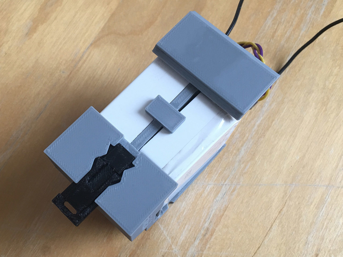 Insteon 2 Micro Modules DIN rail stand 3D Print 245809