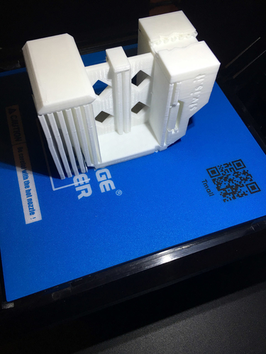 Insteon 2 Micro Modules DIN rail stand 3D Print 245813