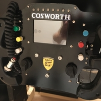 Small Cosworth (LMP3/F4) steering wheel 3D Printing 245819