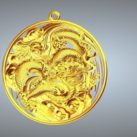 Small Dragon pendant 3D Printing 245882