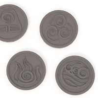 Small Avatar coasters 3D Printing 245888