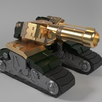 Small Overwatch - Bastion Tank 3D Printing 245907