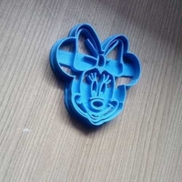 Small MINNIE MOUSE FACE COOKIES CUTTER 3D Printing 245976