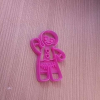 Small GINGERBREAD MAN COOKIES CUTTER 3D Printing 245982