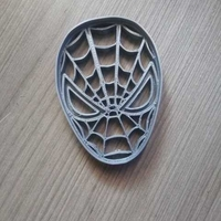 Small SPIDERMAN FACE COOKIES CUTTER 3D Printing 246009