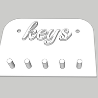 Small Key Holder 3D Printing 246011