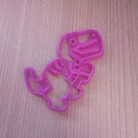 Small T-REX COOKIES CUTTER DINO 3D Printing 246015