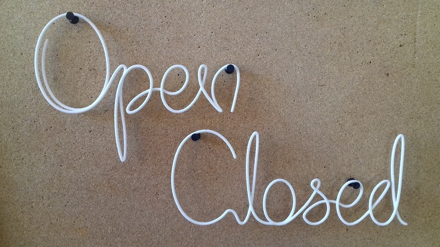 Open, closed 3D Print 246163