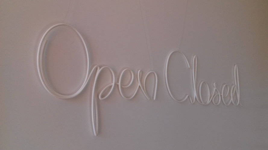 Open, closed 3D Print 246165