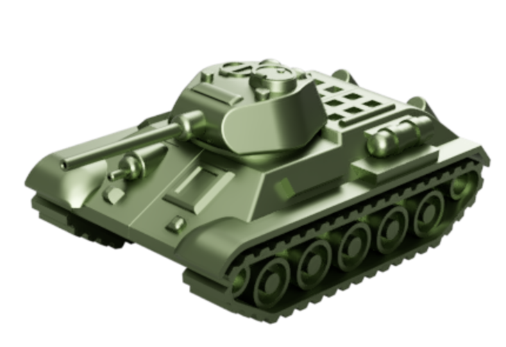 T-34 Tank Articulated Model 1:50 3D Print 246199