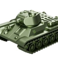 Small T-34 Tank Articulated Model 1:50 3D Printing 246199