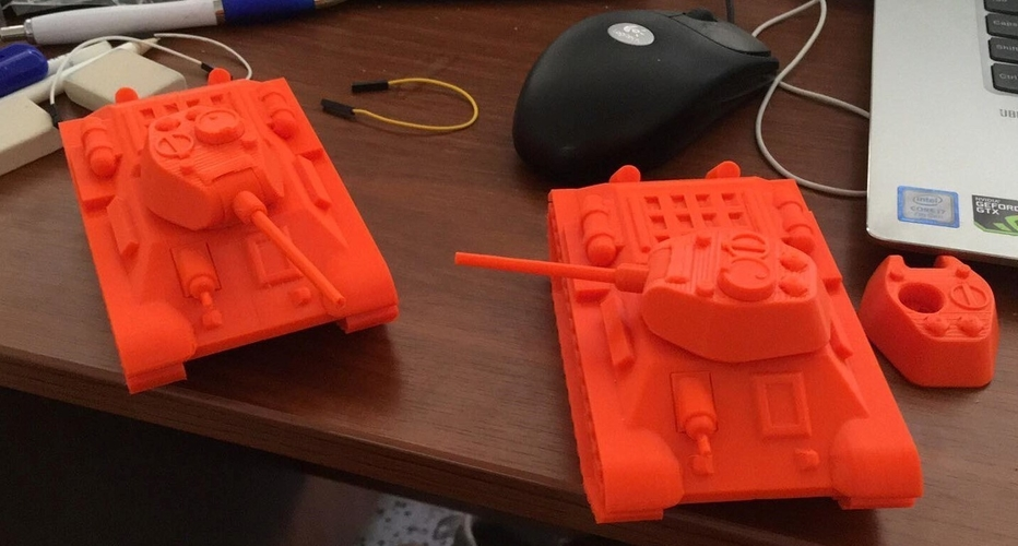 T-34 Tank Articulated Model 1:50 3D Print 246200