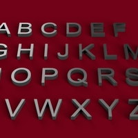 Small ARIAL font uppercase 3D letters STL file  3D Printing 246211