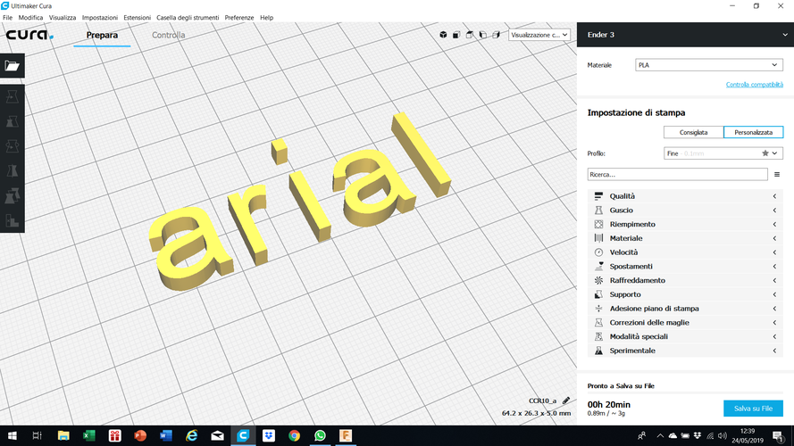 ARIAL font lowercase 3D letters STL file 3D Print 246216