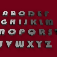 Small BAUHAUS font uppercase 3D letters STL file  3D Printing 246229