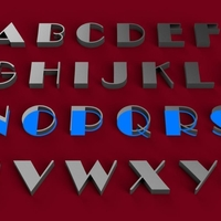 Small BROADWAY font uppercase 3D letters  STL file 3D Printing 246277