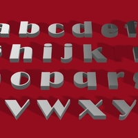 Small BROADWAY font lowercase  3D letters STL file 3D Printing 246280
