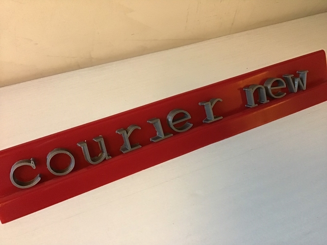 COURIER NEW font lowercase 3D letters STL file 3D Print 246296