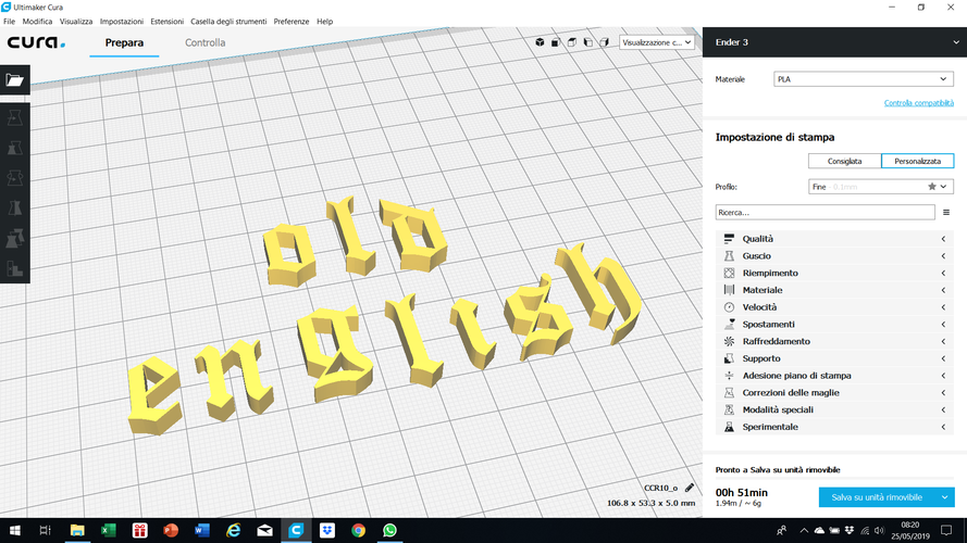OLD ENGLISH font lowercase 3D letters STL file 3D Print 246344