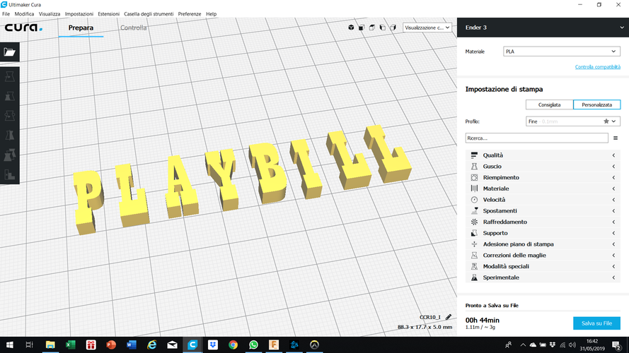 PLAYBILL font uppercase 3D letters STL file  3D Print 246348