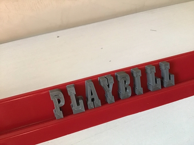 PLAYBILL font uppercase 3D letters STL file  3D Print 246350