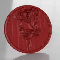 Small Coaster with rose (pair) 3D Printing 246458