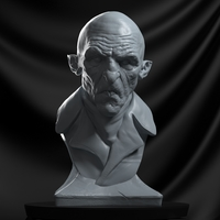 Small Nosferatu the bampyre bust 3D Printing 246507