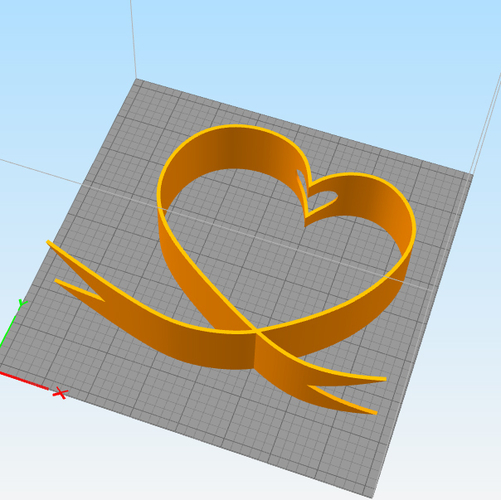 DESKTOP HEART RIBBON FLOWER HOLDER 3D Print 246535