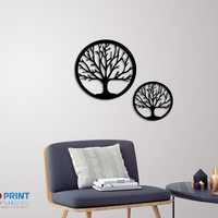 Small Silhouette Art Tree wall Art 3D Printing 246603