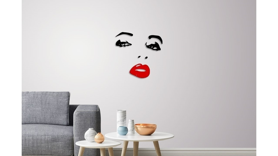 Lady face wall decoration  3D Print 246604