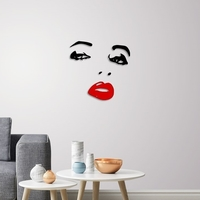 Small Lady face wall decoration  3D Printing 246604
