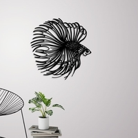 Small Betta fish wall decoration 3D Printing 246625