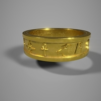 Small Egyptian Ring 3D Printing 246639