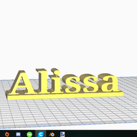Small Alissa's Name Tag 3D Printing 246680