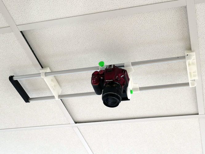 Ceiling Camera Mount for 600mm Commercial Ceilings 3D Print 246688