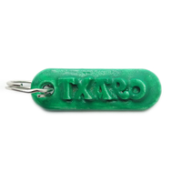 Small TXARO Personalized keychain embossed letters 3D Printing 246770
