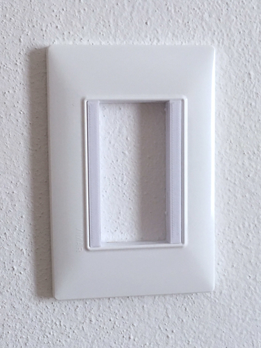 Vimar Plana - Insteon mini remote wall mount bracket 3D Print 246777
