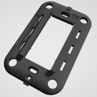 Small Vimar Plana - Insteon mini remote wall mount bracket 3D Printing 246779