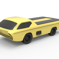 Small Diecast model Dodge Deora 1967 Scale 1:24 3D Printing 246797