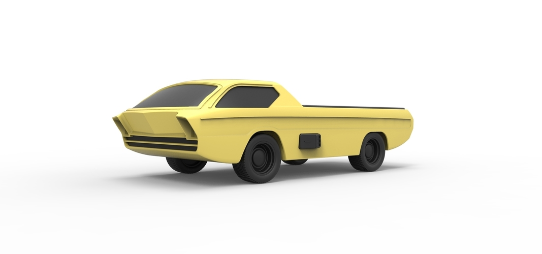 Diecast model Dodge Deora 1967 Scale 1:24 3D Print 246798