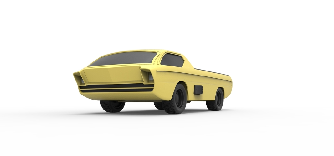 Diecast model Dodge Deora 1967 Scale 1:24 3D Print 246800