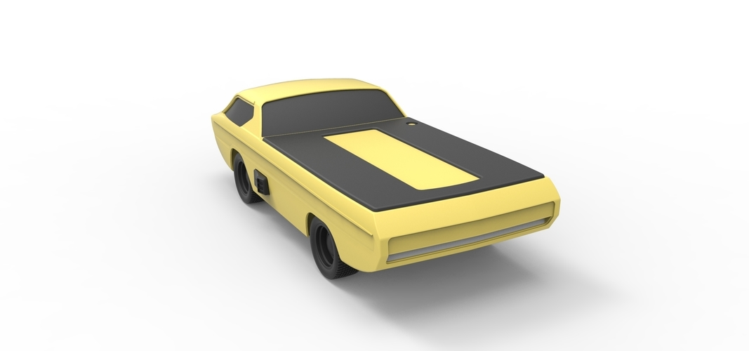 Diecast model Dodge Deora 1967 Scale 1:24 3D Print 246808
