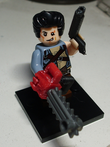 ED2 CHAINSAW + BOOMSTICK FOR MINIFIG 3D Print 246873