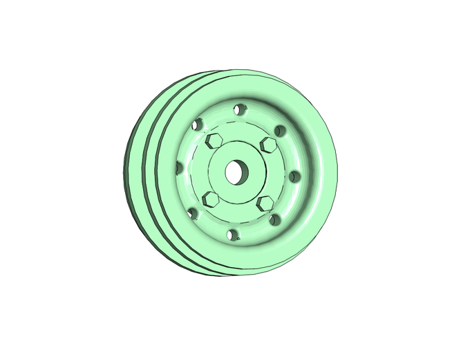 Rims Wheels for WPL 1:16 Truck 12mm Hex. 3D Print 246939