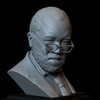 Small Bernard Lowe (Jeffrey Wright) Westworld, portrait, bust 200mm 3D Printing 246961