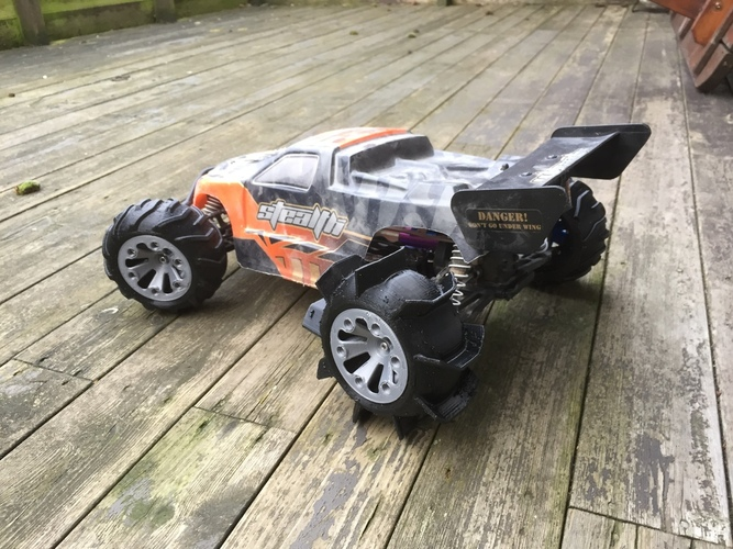 Set of wheels for OpenRC Truggy 3D Print 24702