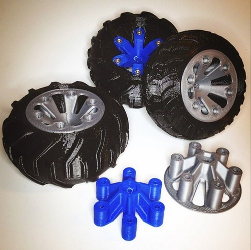 Set of wheels for OpenRC Truggy 3D Print 24704